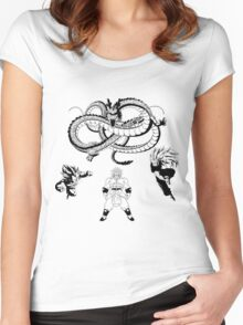 Brolly Vs Goku & Vegeta - Under The Eternal Dragon (Manga Style) Women's Fitted Scoop T-Shirt