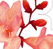 Pink Blossoms Tee Sticker