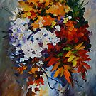 WINTER BOUQUET - LEONID AFREMOV by Leonid  Afremov