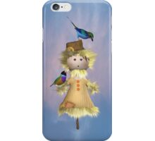 Lady Scarecrow with Birds .. iphone case iPhone Case/Skin