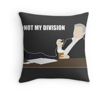 Not My Division - DI Lestrade (white text) Throw Pillow