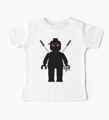 Ninja Minifig / TMNT Foot Soldier Baby Tee