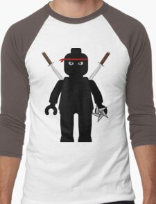 Ninja Minifig / TMNT Foot Soldier Men's Baseball ¾ T-Shirt