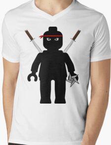 Ninja Minifig / TMNT Foot Soldier Mens V-Neck T-Shirt