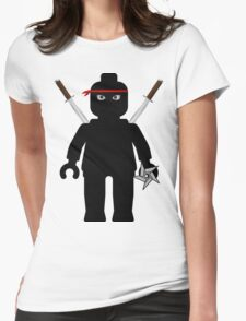 Ninja Minifig / TMNT Foot Soldier Womens Fitted T-Shirt