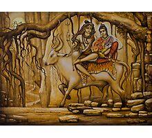 Shiva Parvati Ganesha Photographic Print