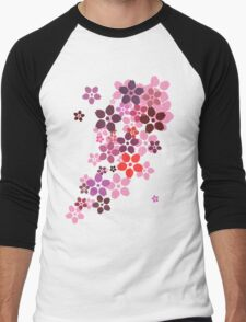 Sakura Men's Baseball ¾ T-Shirt