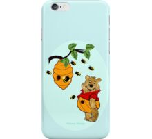 Pooh Bear takes care of his tummy (7910  Views) iPhone Case/Skin