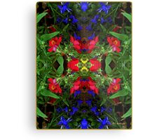 Fidelity - Card VII from The Tarot of Flowers Metal Print