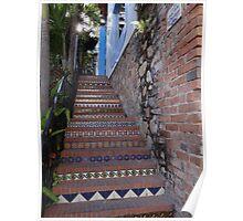 Stairs At The Gringo Gulch - Escalera En El Cerro De Los Gringos Poster