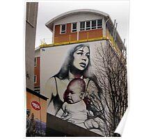 Mural by El Mac, Bristol, UK Poster
