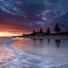 Papamoa Domain Dawn Rush by Ken Wright