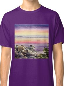 Purple Sunset At The Lake Classic T-Shirt
