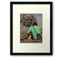 Sand Artwork - Arte De Arena Framed Print