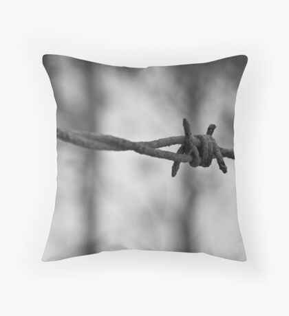 Through the wire Throw Pillow