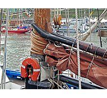 LK243 Swan, gaff yoke, sail/mast hoops Photographic Print