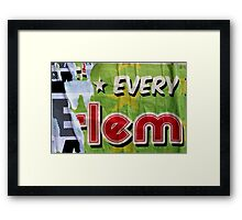 * EVERY E-lem Framed Print
