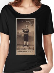 Benjamin K Edwards Collection Ned Williamson Chicago White Stockings baseball card portrait 001 Women's Relaxed Fit T-Shirt