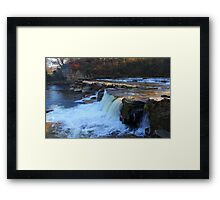 The Upper and Lower Falls, Richmond, River Swale, England Framed Print