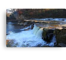 The Upper and Lower Falls, Richmond, River Swale, England Canvas Print