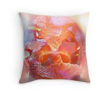 Glassy petals Throw Pillow
