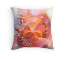 Glassy petals Throw Pillow