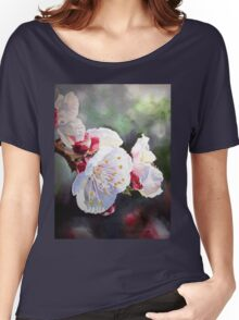 Apricot Flowers Women's Relaxed Fit T-Shirt