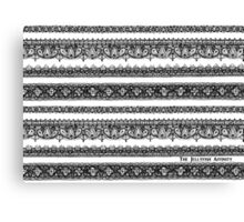 Lace - BW Ver Canvas Print