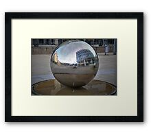Reflected city. Framed Print