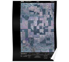 USGS Topo Map Washington State WA Wilbur 20110401 TM Inverted Poster