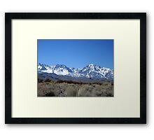 Sing A Sierra Song Framed Print