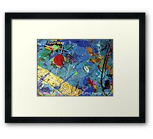 BUBBLE GUM 073.12b Framed Print