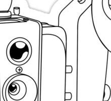 Brownie Hawkeye No Flash - Black lines - No text Sticker