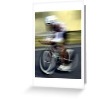 Impressionist Cyclist Greeting Card
