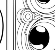 Rollie TLR - Black Line Art - No Text Sticker
