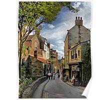 Robin Hoods Bay, street scene Poster