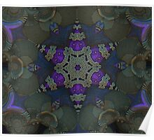 Purple Star Fractal Poster
