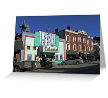 A Touch of Americana - Downtown Nostalgia Greeting Card