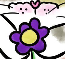 Calico Kitty with Flower Sticker