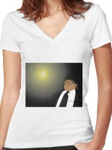 Frank Makes an Offering Women's Fitted V-Neck T-Shirt