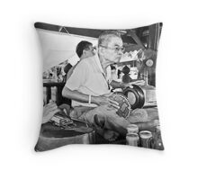 Old habits die hard  Throw Pillow