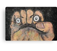 Fist Face Canvas Print
