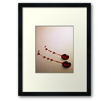 Blood Red on Pale White Framed Print