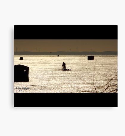 The Ice Fisher Canvas Print