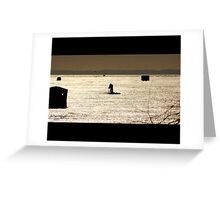 The Ice Fisher Greeting Card