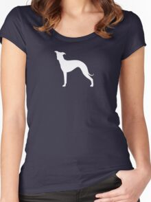 Italian Greyhound Silhouette(s) Women's Fitted Scoop T-Shirt