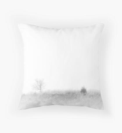 Fogged Field Throw Pillow