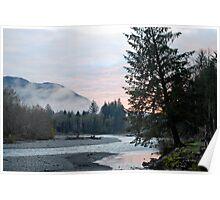 Hoh River at Dusk Poster