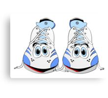Tennis Shoe Cartoon Canvas Print