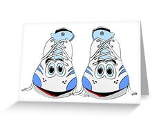 Tennis Shoe Cartoon Greeting Card